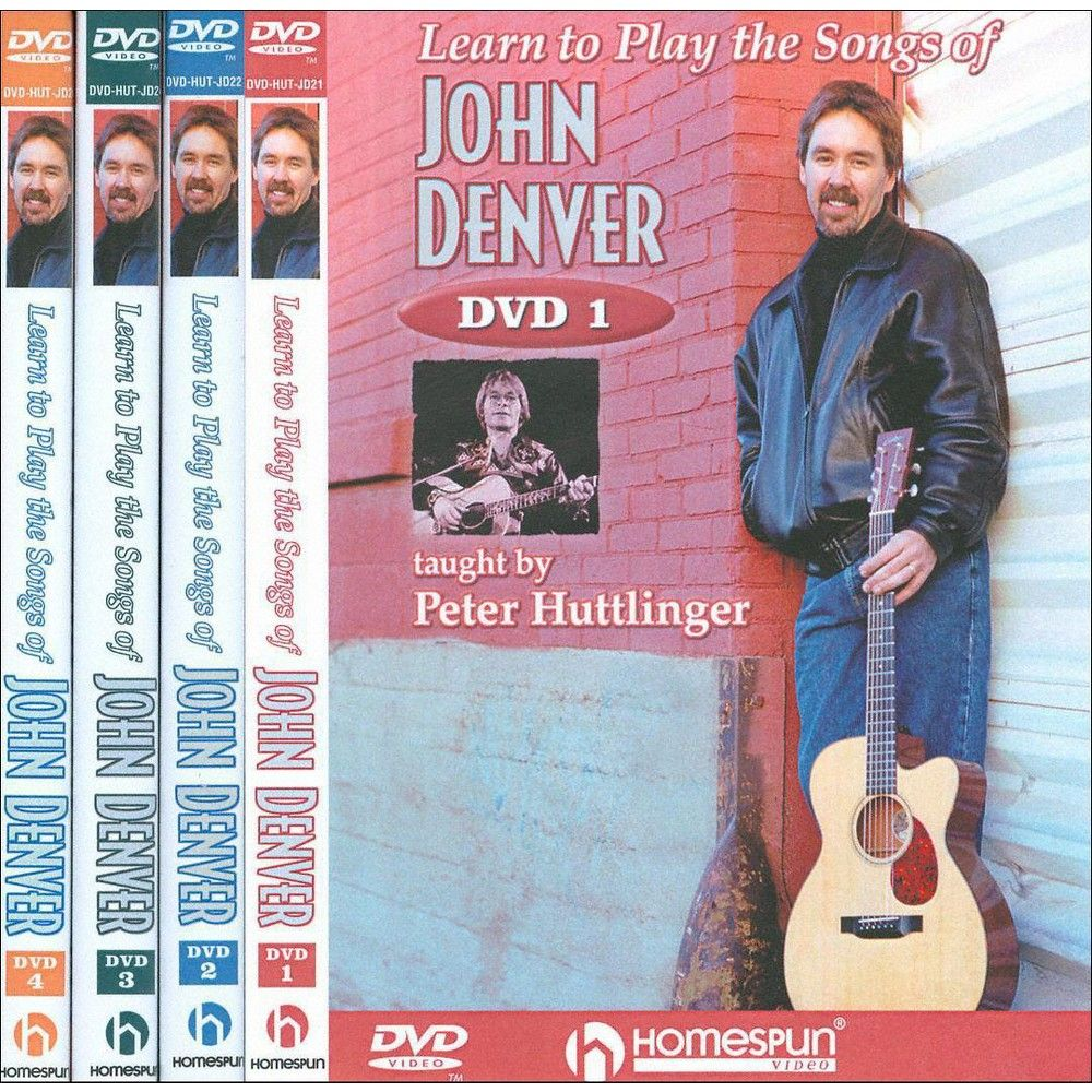 Learn to Play Songs of John Denver: Lesson 1-4 (4 Discs) (dvd_video)