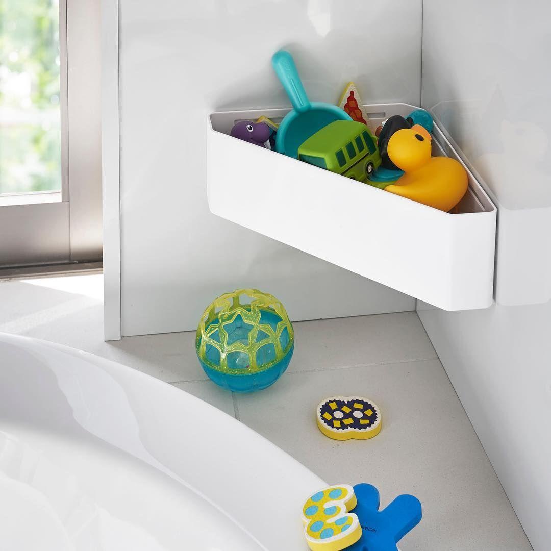 キッチン インテリア 雑貨 ランドリー 収納のメーカー On Instagram マグネットバスルームコーナーおもちゃラック タワー のご紹介です マグネットタイプで お風呂のコーナーにカンタン設置 水切り穴が開いているので通気性のよいおもちゃラックです