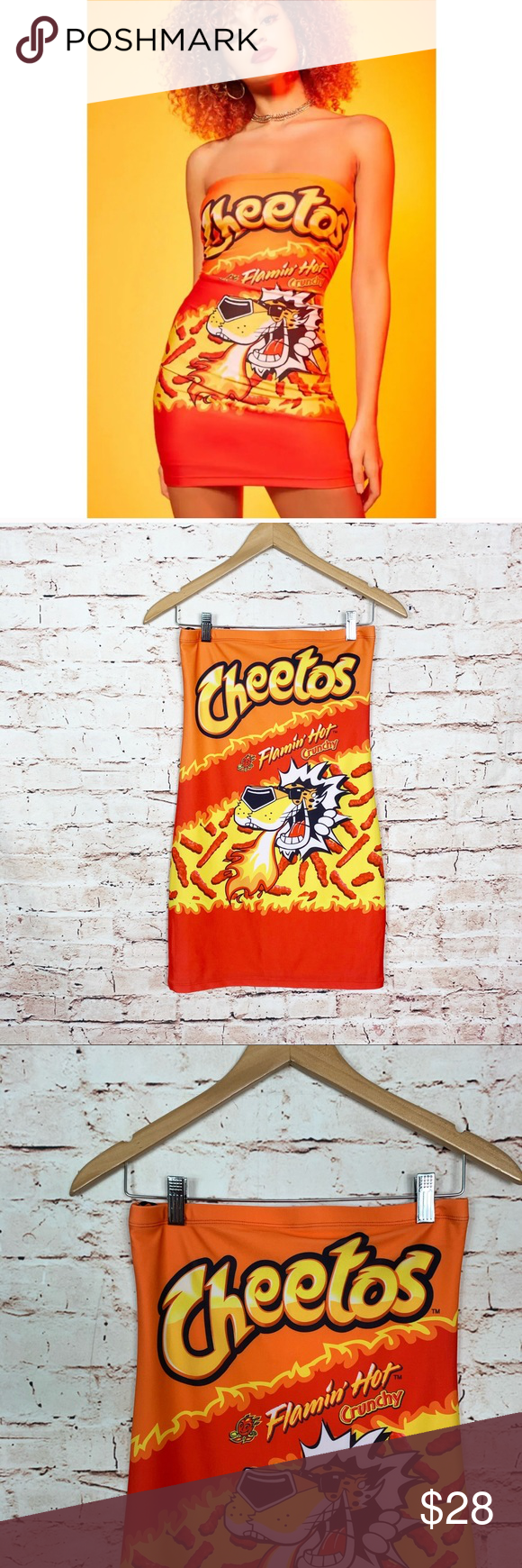 Forever 21 Flamin Hot Cheetos Mini Dress Mini Dress Women Shopping Dresses
