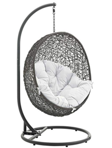 6cc51a9f38a Modway Hide Outdoor Patio Swing Chair with Stand