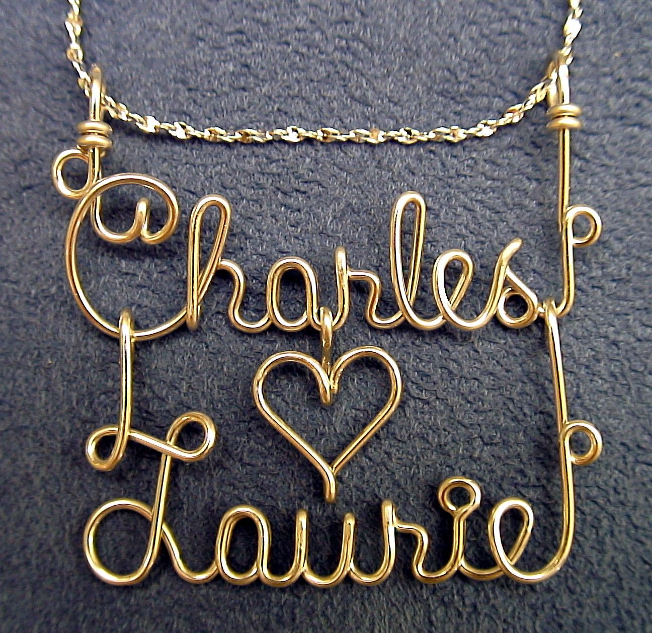 pinterest silver wire jewelry hearts | Silver or Gold Wire Couples ...