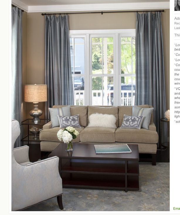 Living Room Curtain Ideas To Perfect Living Room Interior: Traditional Design Living Room, Beige