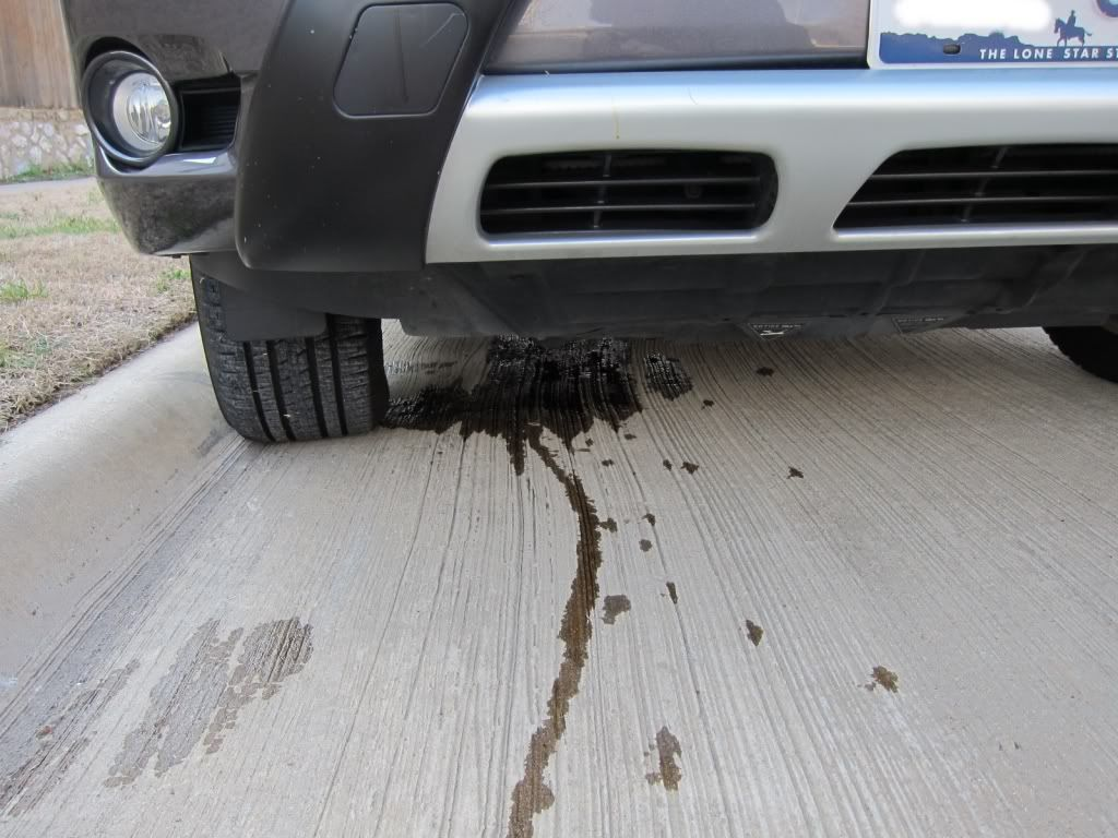 In the summertime, antifreeze can leak out of cars when