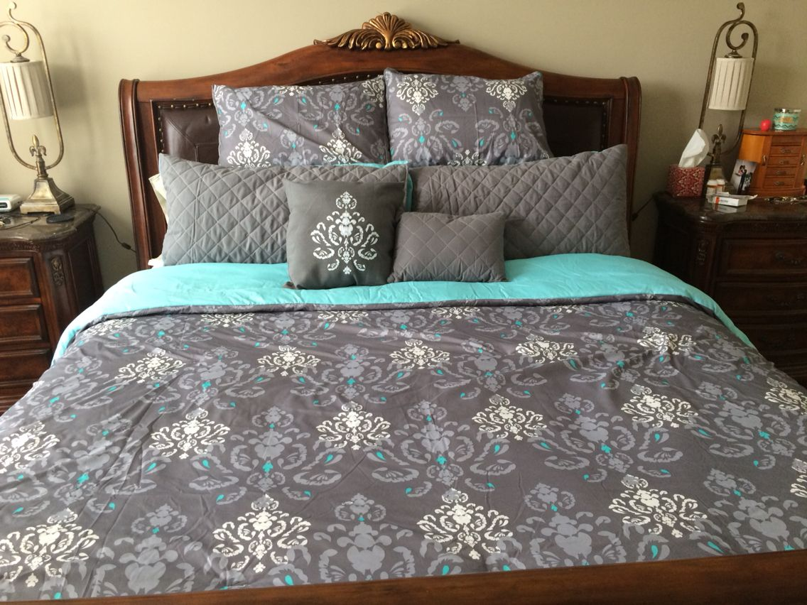 sets for comforter shop accessories wall size decor awesome aqua room teal art paint bedroom of gray set full blue tiffany