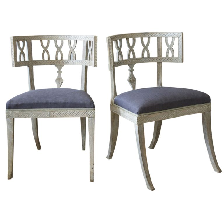 Pair Of Klismos Chairs Living Room Accent Chairs Maybe