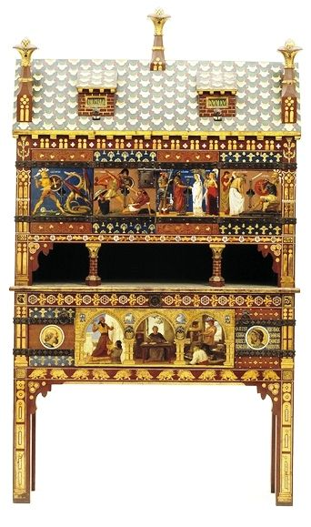 Painted Cabinet Designed By William Burges See More On His Board Scroll  Down Http:/