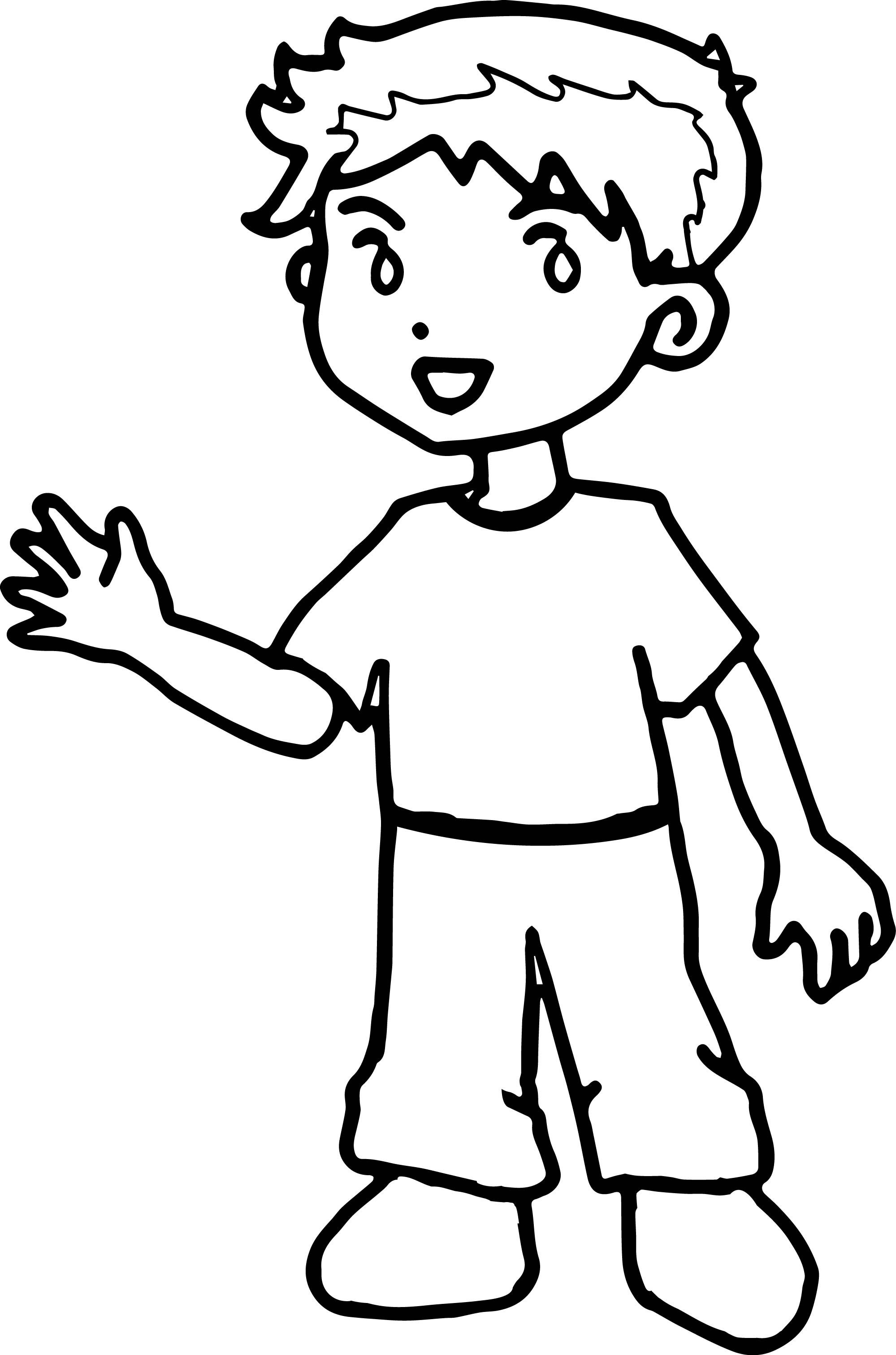 Cool Kids Hello Coloring Page