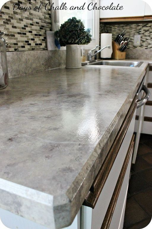 13 Inexpensive Countertop Makeovers That Look Super High End Kitchen Remodel Countertops Diy Countertops Painting Laminate Countertops