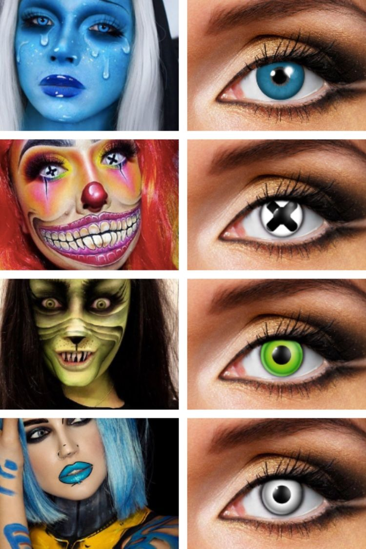 Transform Your Eyes In 60 Seconds Color Contacts For Halloween Halloween Contact Lenses Halloween Makeup