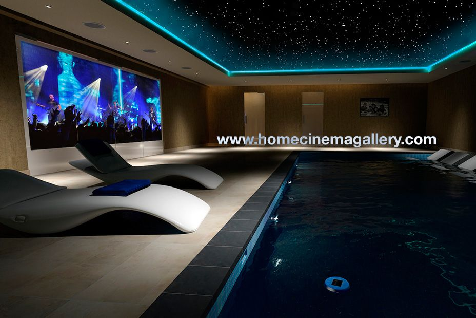 Merveilleux Watching A Movie And Relaxing In A Pool. Perfect Design. The Colours Are  Well · Home Cinema ...