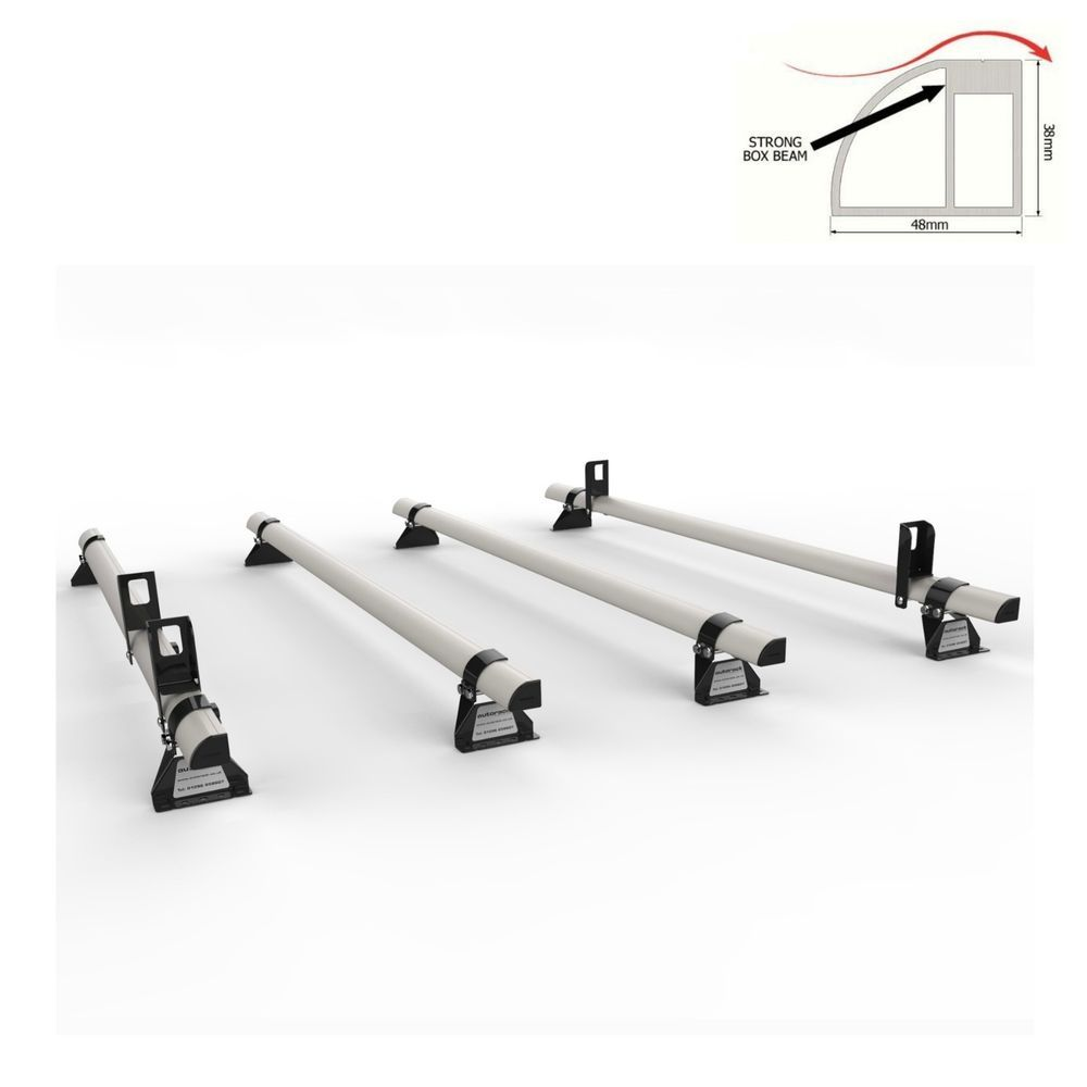 AutoRack TITAN Construction Grade PEUGEOT BOXER Van Roof Rack 3 Bars With Roller for 2008-onward