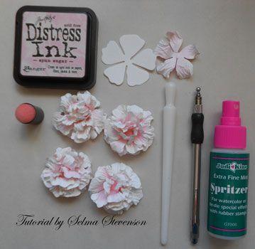 Selmas stamping corner pink flower tutorial flower tutorials selmas stamping corner and floral designs pink flower tutorial mightylinksfo