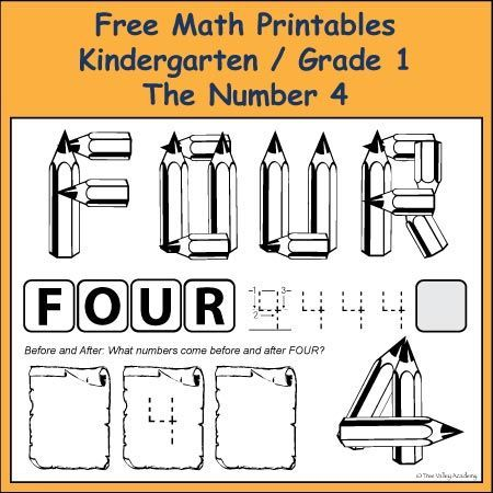 Number Bonds to 4 Free Math Printables | Number bonds, Free math and ...