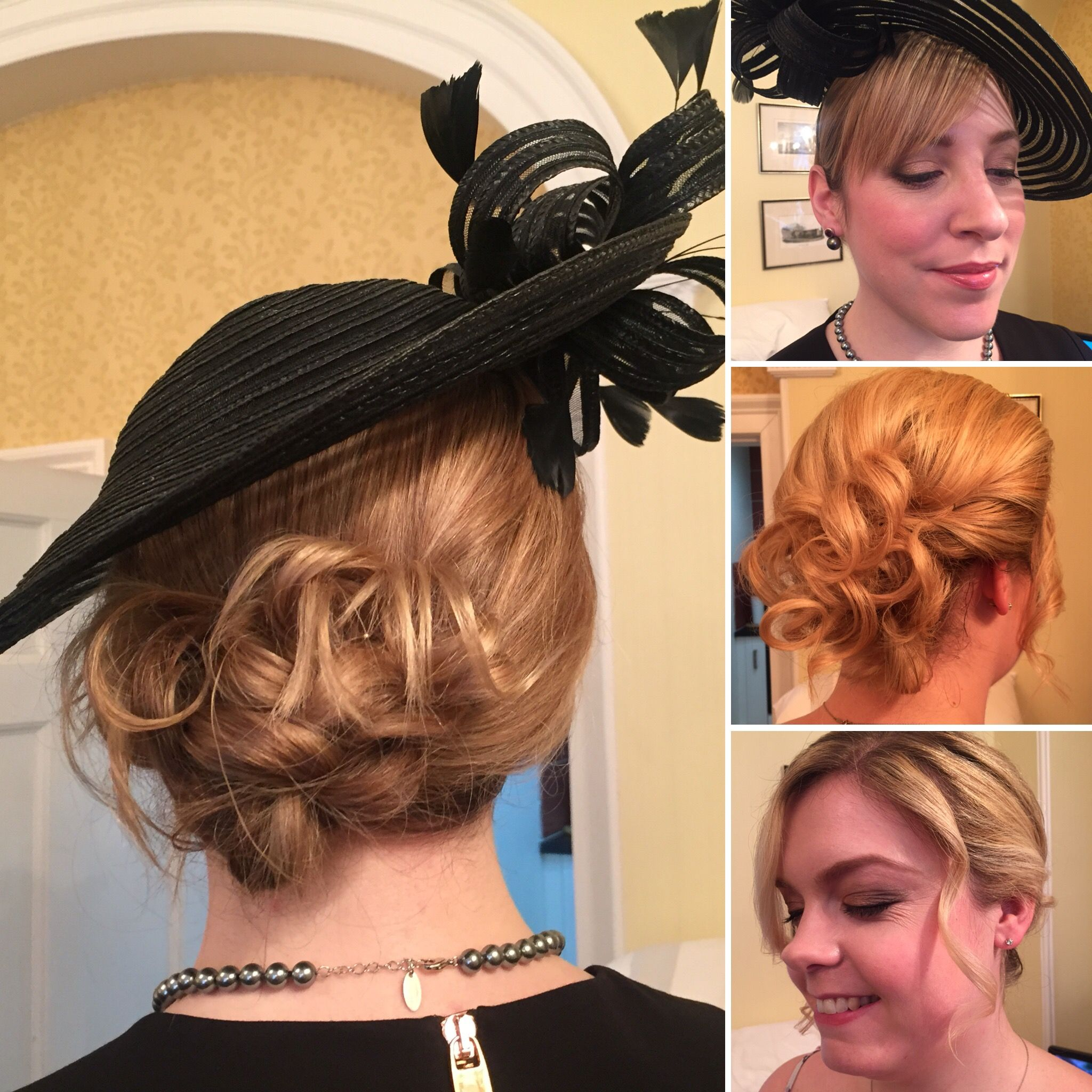 wedding guest hair for wedding 13.12.15 messy bun and loose