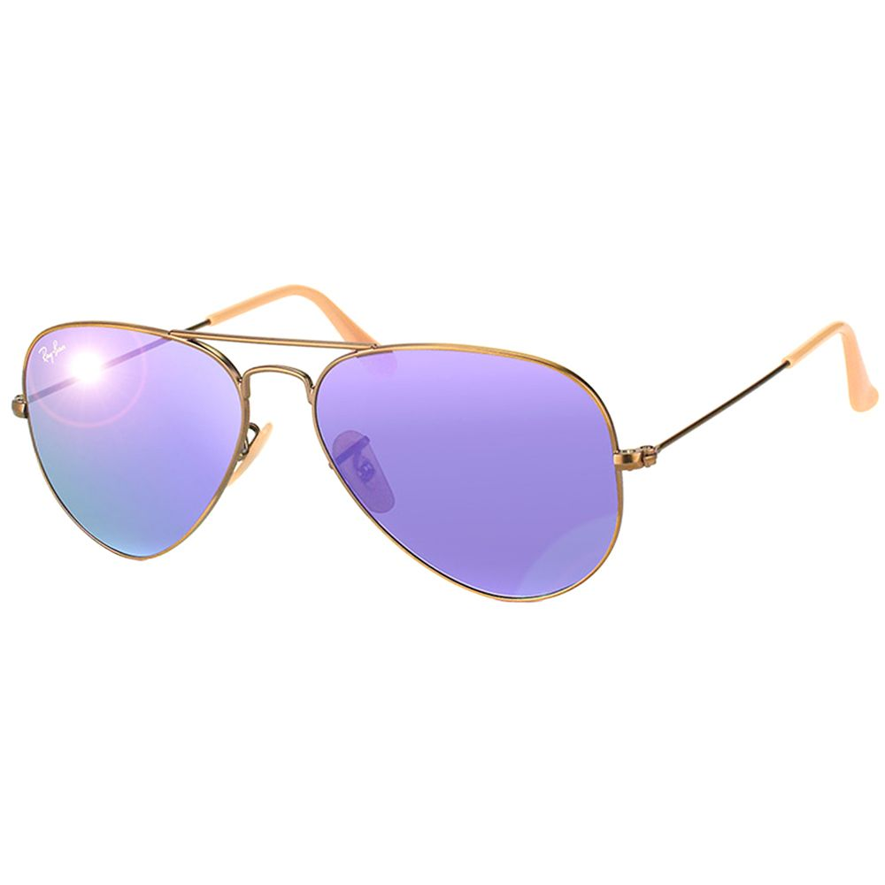 Sport iconic Ray Ban style with these reflective aviators. These metal  sunglasses features UV protective violet mirrored lenses and come complete  with a ... 20b72d8347