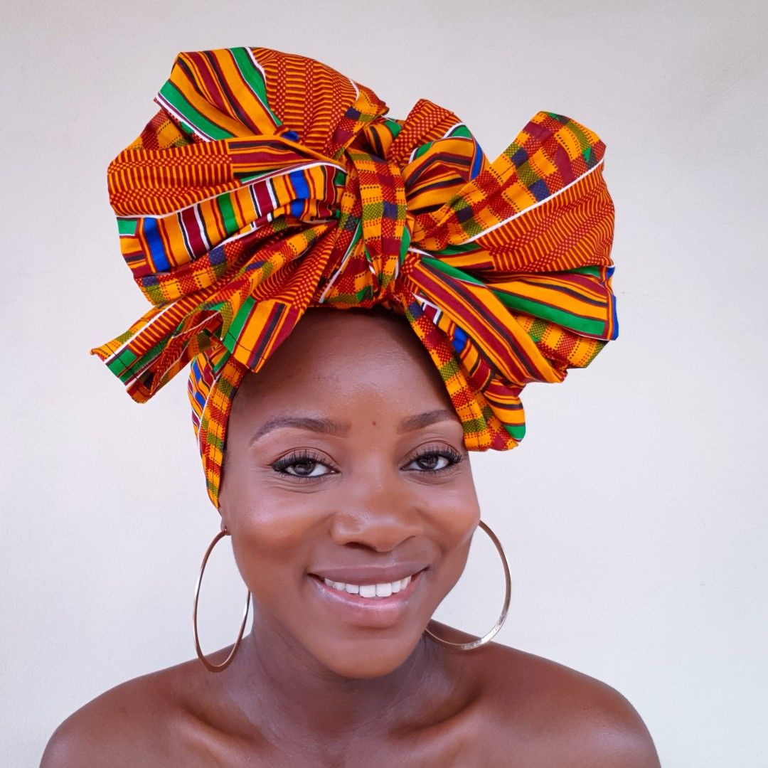 African head wraps Ankara Print Head Wrap Turban headscarves
