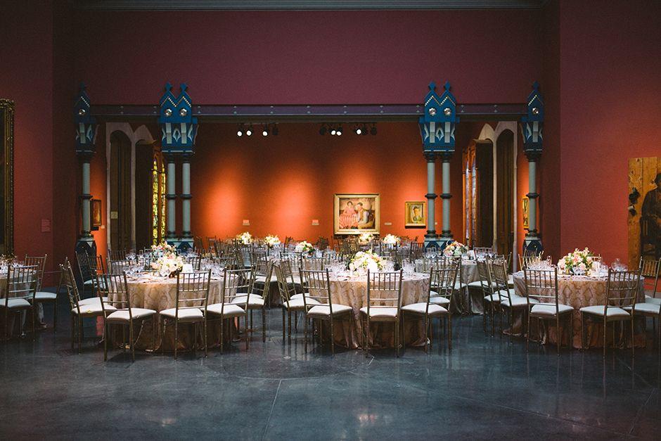 Dinner in the Rotunda of PAFA's Historic Landmark Building | Peach Plum Pear Photography