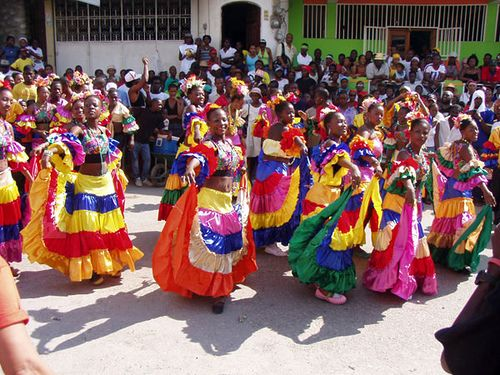 Haiti Wedding Traditions Food: Karabela Dresses Are The Colorful, Traditional Costumes Of