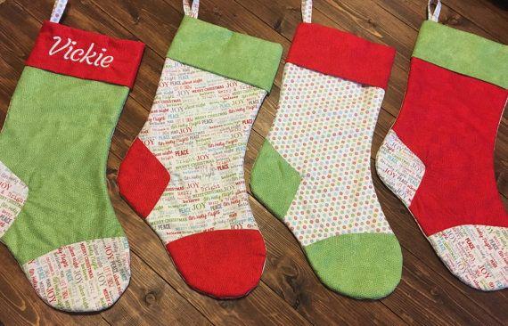 Family Christmas stockings Custom Christmas Stocking Farmhouse