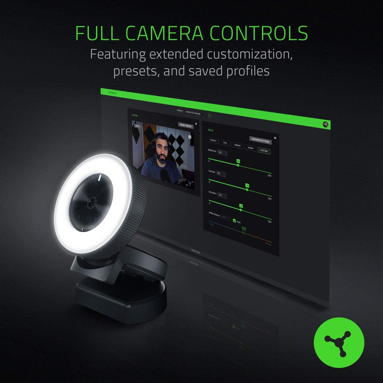 Razer Kiyo Full Hd 1080p 30fps 720p 60fps Built In Adjustable Ring Light Advanced Autofocus Feature Streaming Web Camera Razer Camera Autofocus Camera