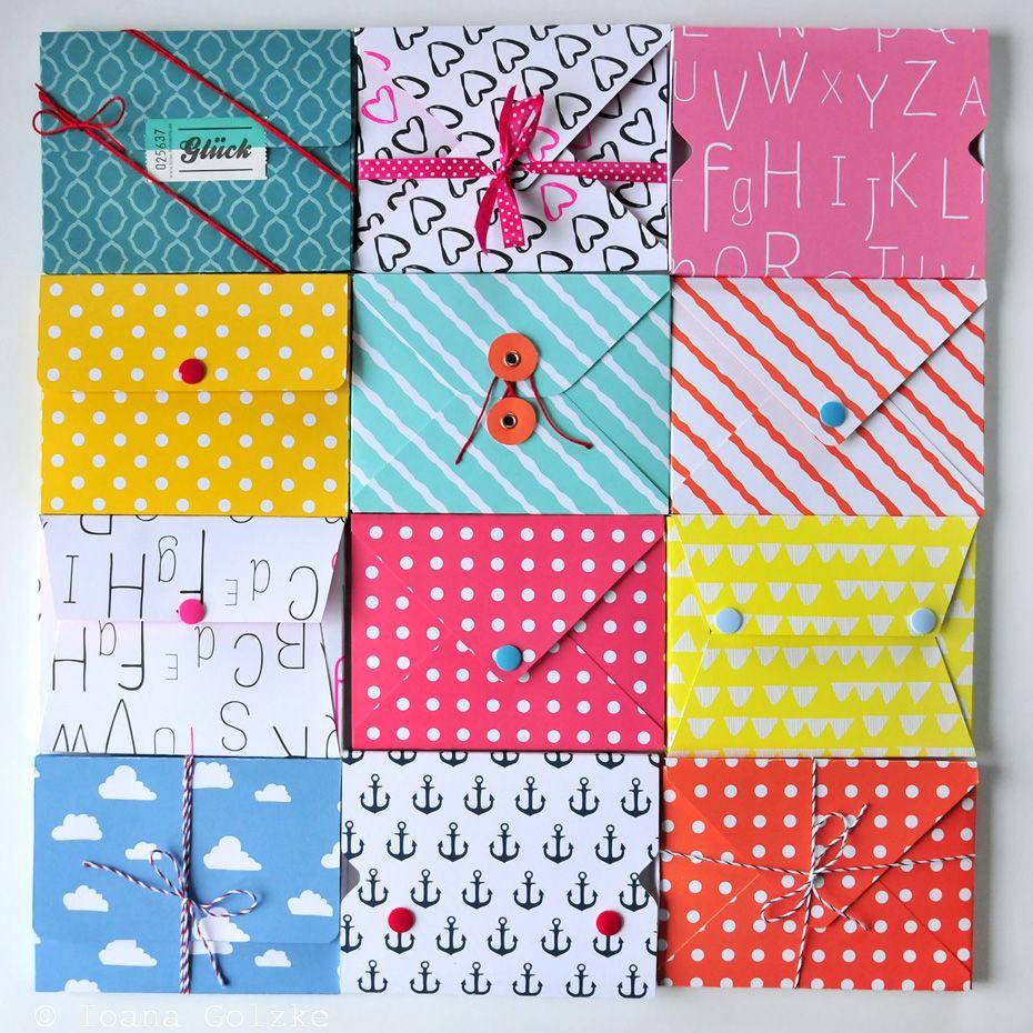 Diy tutorial wie bastelt man 4 varianten einer postkarten box creative ideas kreative diy - Postkarten selber basteln ...