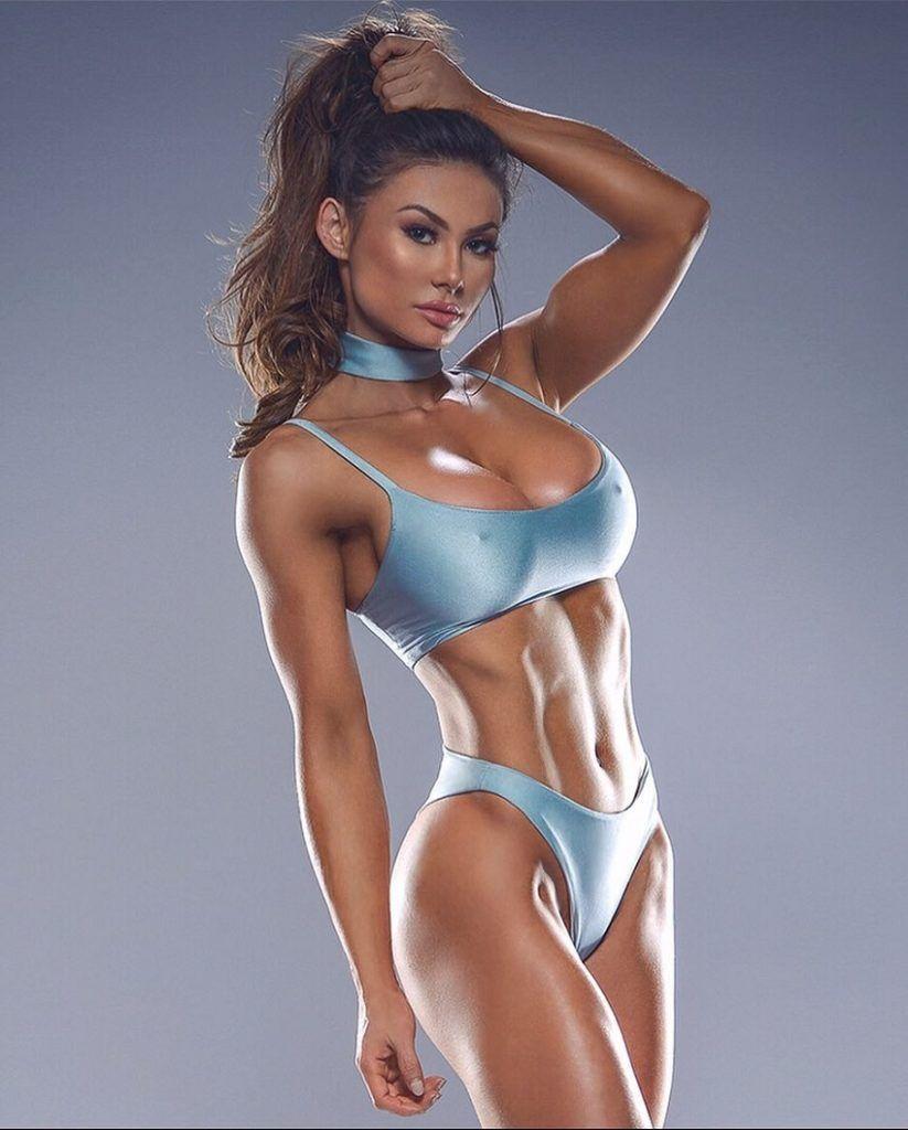 9886e1c185 Michie peachie blue lingerie hot lingerie fitness models fitness women  ripped girls jpg 823x1024 Blue lingerie