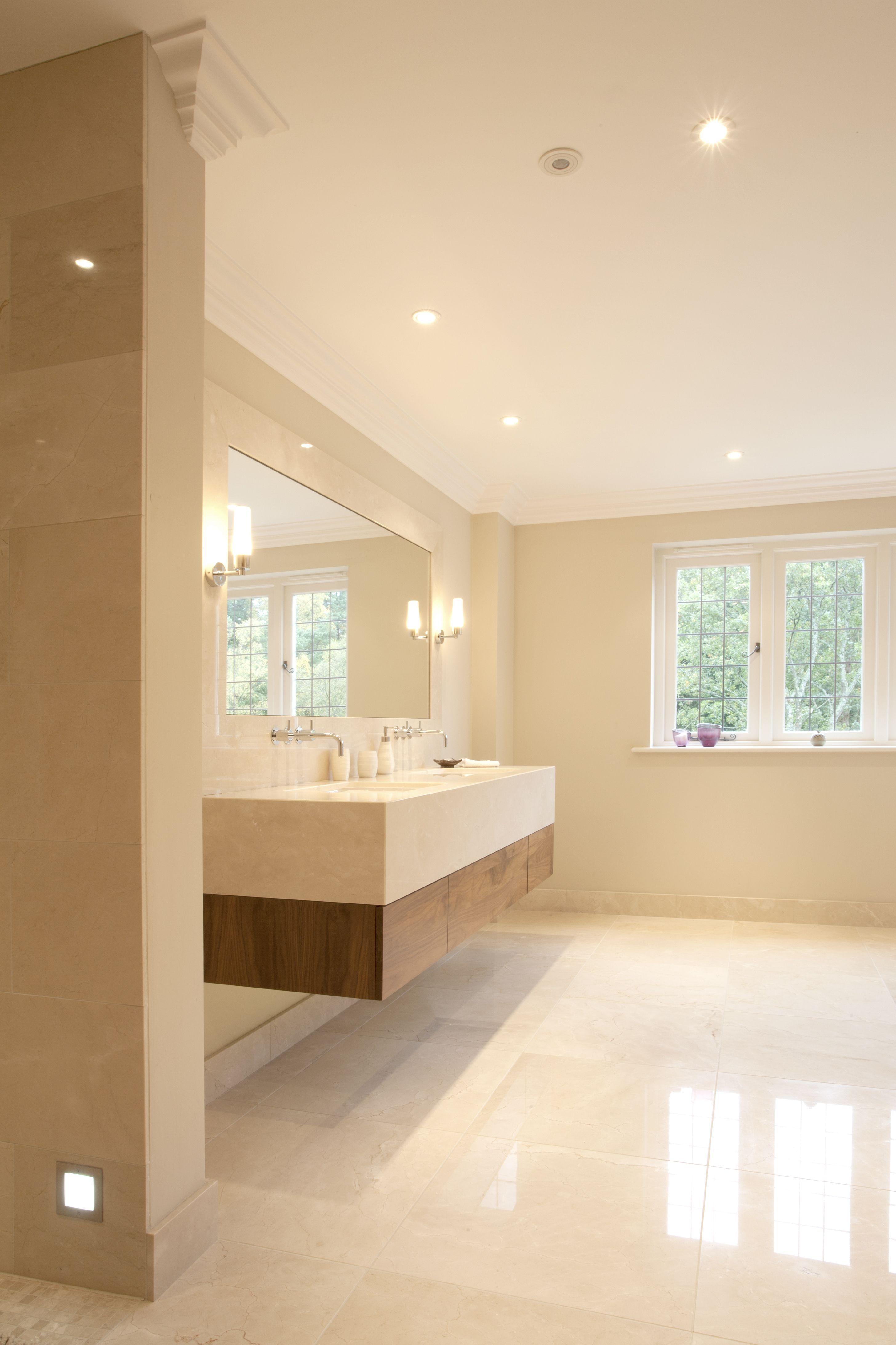 Crema Marfil As A Bathroom Tile Floor And Walls In 2020 Marble Bathroom Floor Tile Bathroom Marble Bathroom Designs