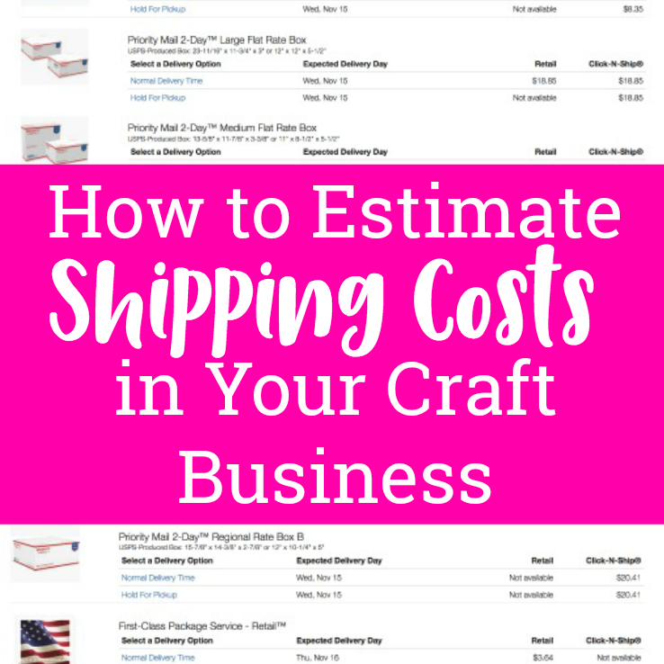 How to Estimate USPS Shipping in Your Craft Business in