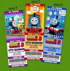 Unique Personalized Thomas the Train Birthday Party Invitations