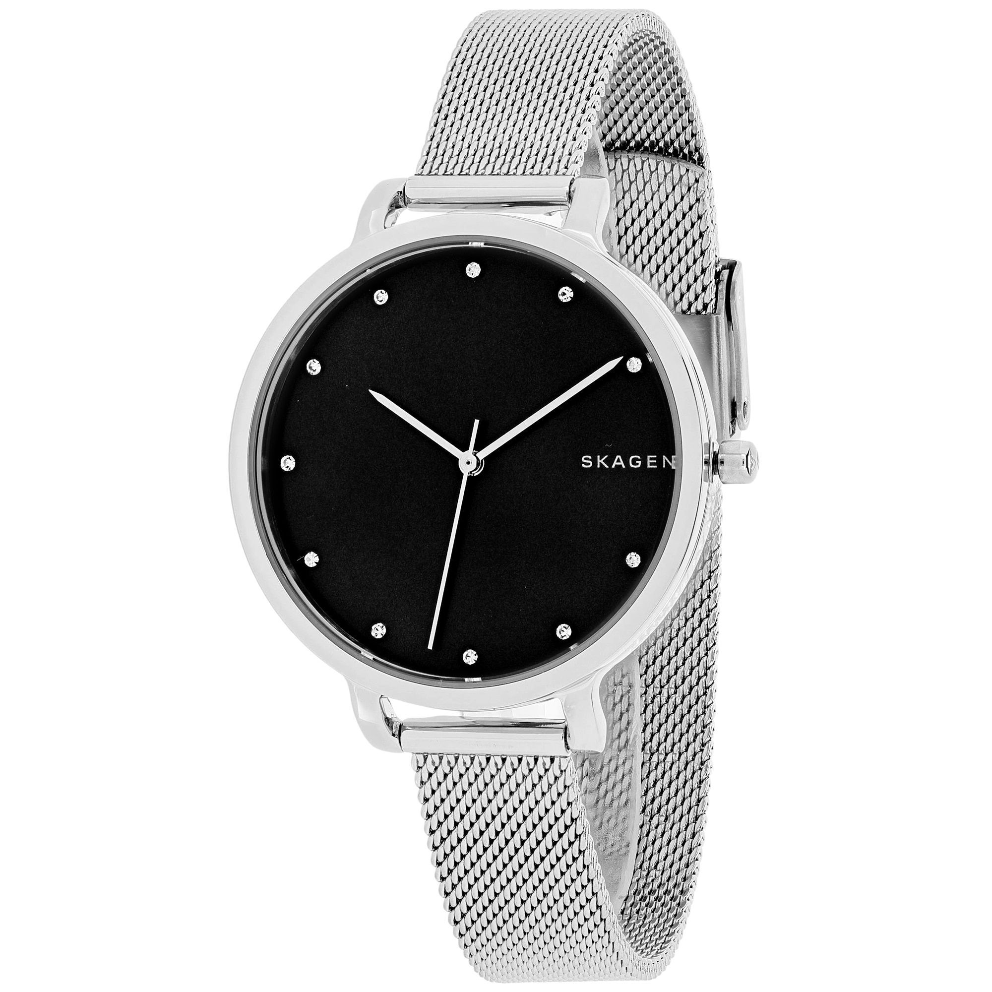 white double jomashop ladies com net watch getimage url black leather s hagen dial skagen wrap watches shld