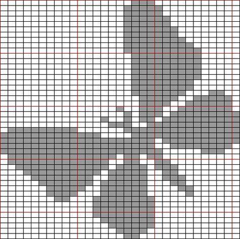 Free Tunisian Crochet Butterfly Patterns Charts Google Search