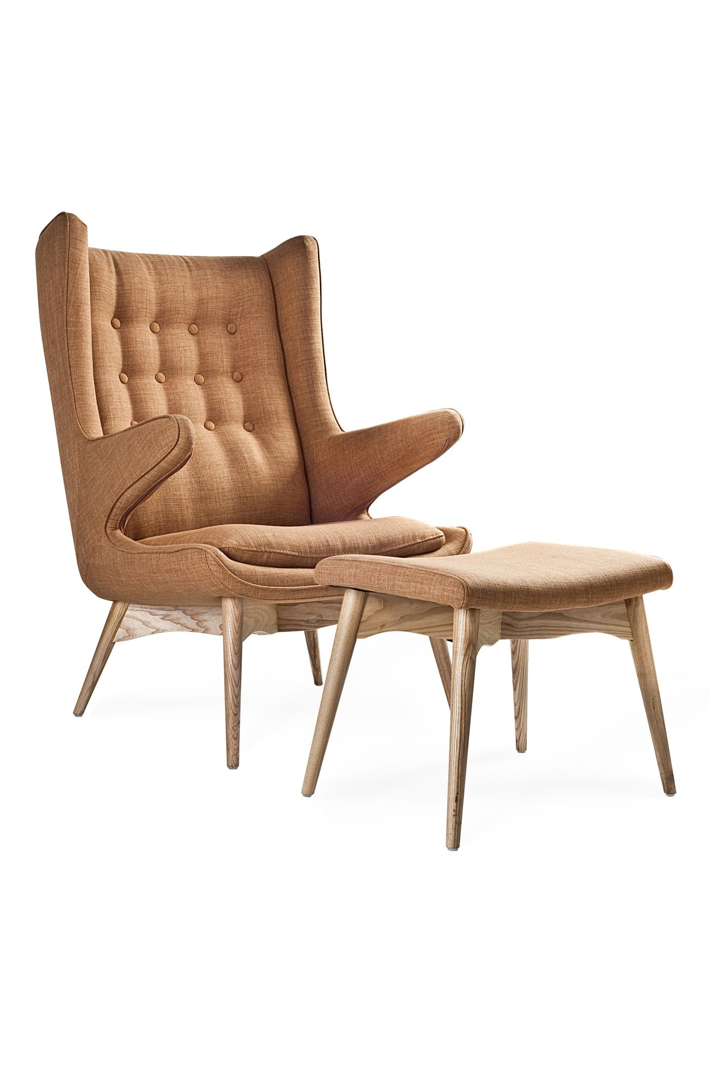 Exceptionnel Merton Arm Chair And Ottoman Camel Fabric / Industry West