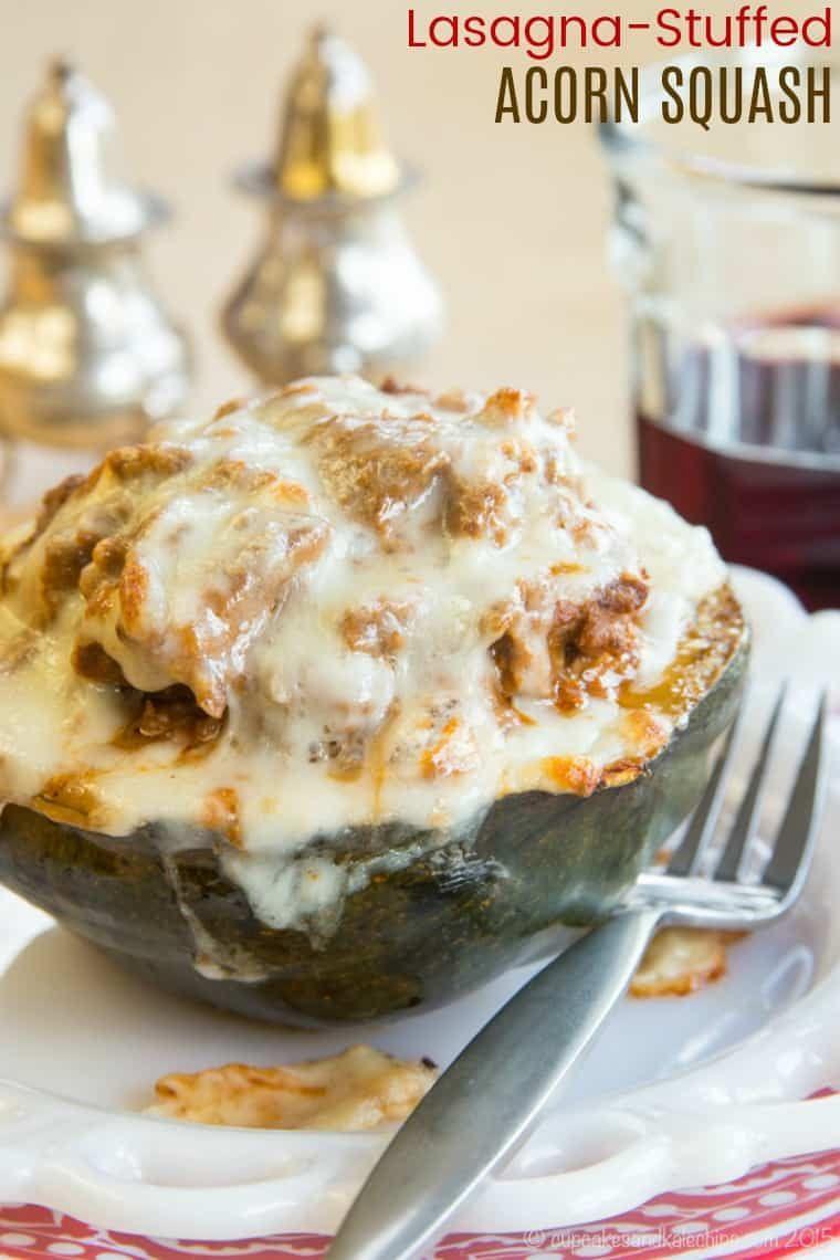Cheesy Lasagna Stuffed Acorn Squash Recipe Cupcakes Kale Chips Recipe Acorn Squash Recipes Food Acorn Squash