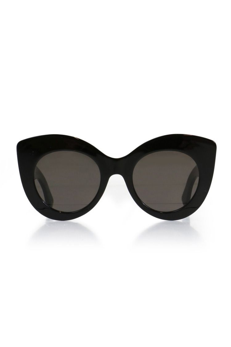 d162603af529 The F is FENDI Sunglasses are an oversized cat eye shape style with black  thick acetate