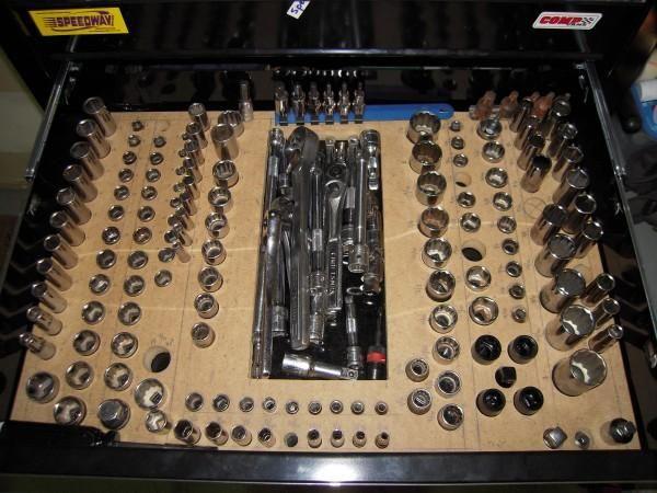 Socket Organizer. Garage Tool ...