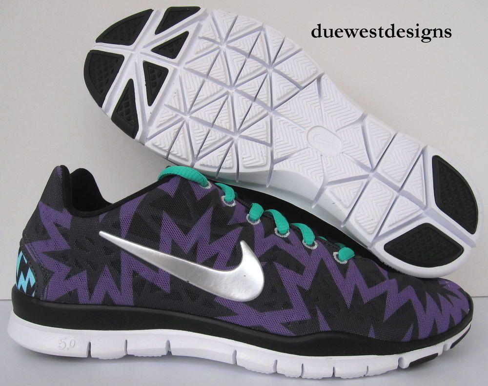 innovative design 5a4d1 486a8 ... clearance nike free tr fit 3 print 6.5 purple black aztec leopard 3.0  roshe cheetah run