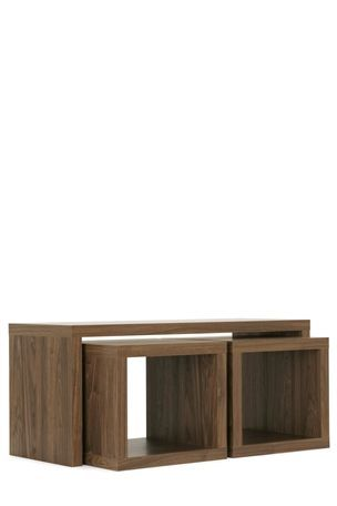 Mode Walnut Coffee Table With 2 Small Nesting Tables From The Next Uk Online