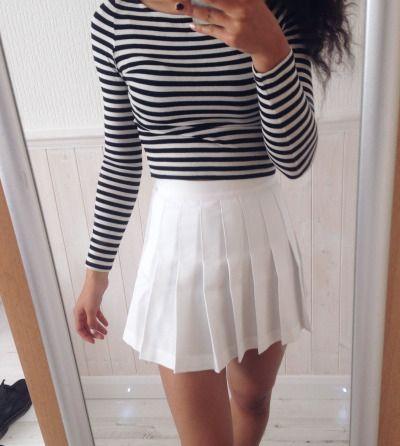 White Tennis Skirt On Tumblr White Tennis Skirt Tennis Skirt Skirt Trends