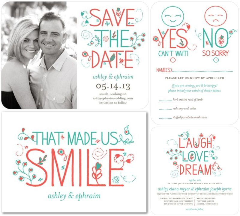These are so cute! From Wedding Paper Divas. http://www ...