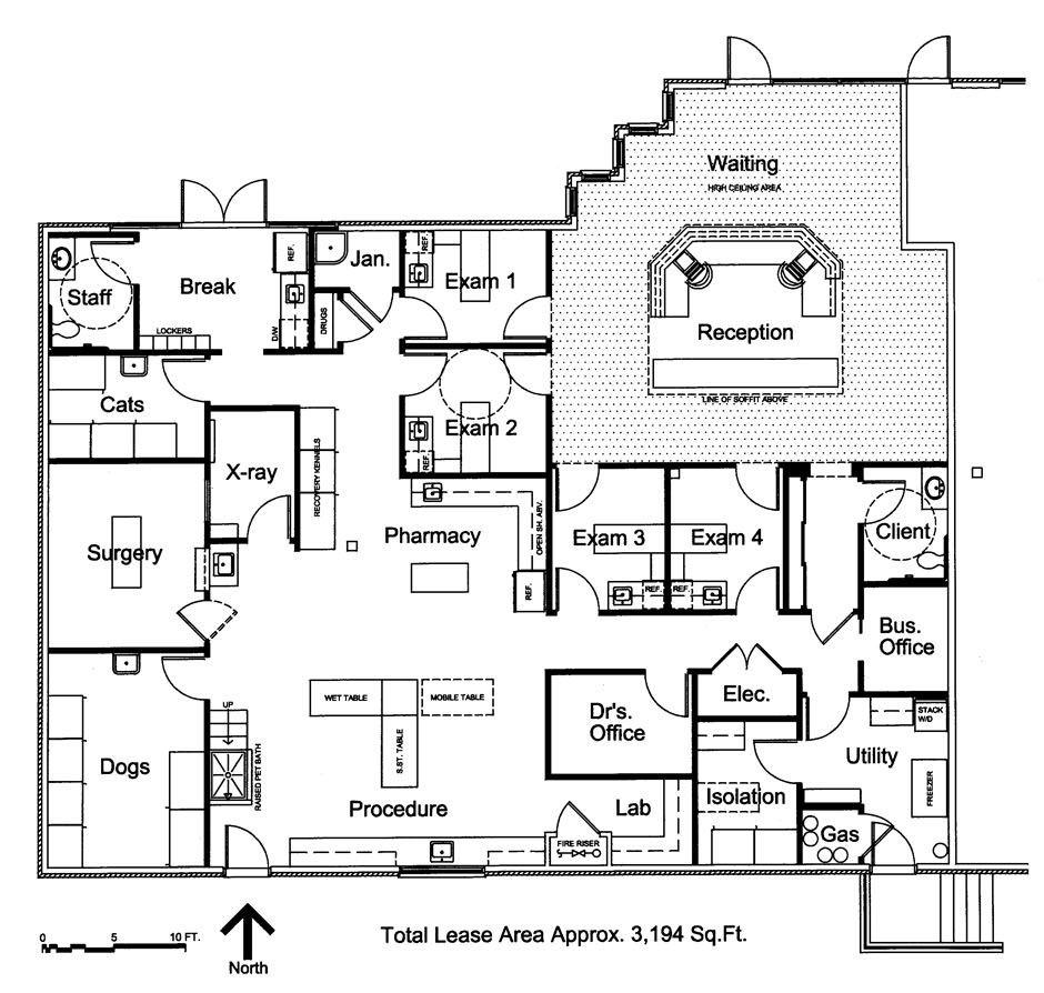 Small hospital floor plans - Veterinary Floor Plan Southwest Veterinary Hospital
