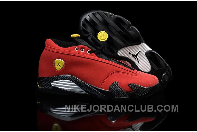 buy popular c5b08 74c4e ... wholesale shop air jordan 14 retro low ferrari red super deals black  grey blue and more