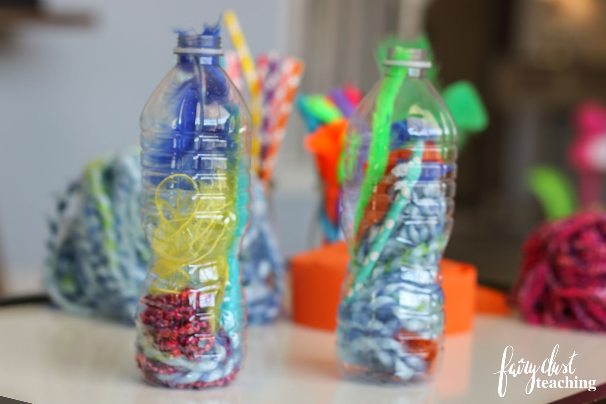 Fine Motor Bottle Activity With Loose Parts