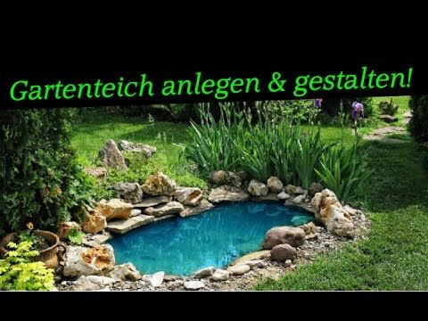 Gartenideen - Gartenteich anlegen  gestalten Teich mit Wasserfall