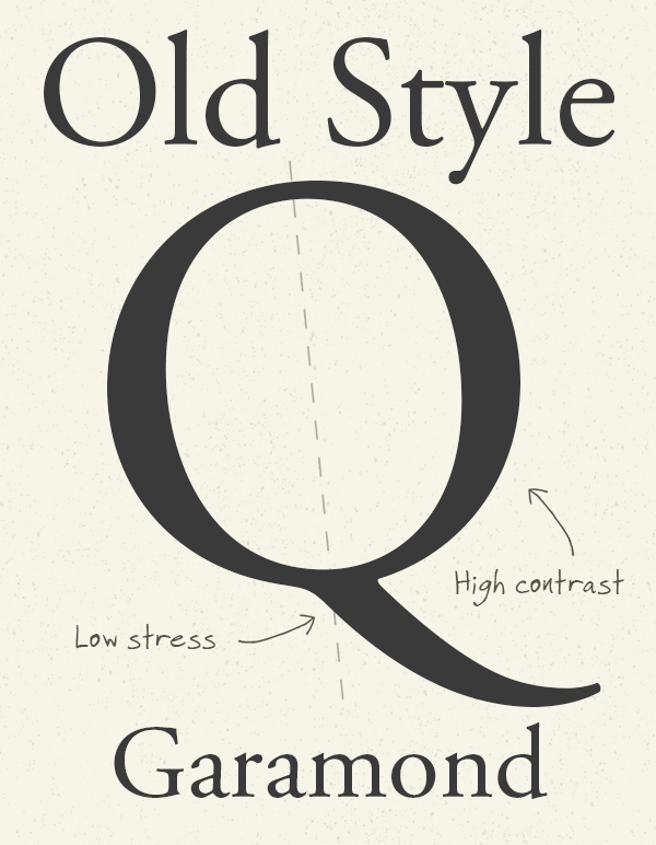 Old Style Serifs