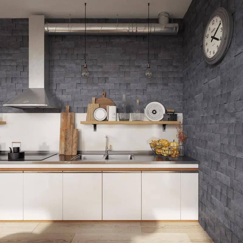 Motif Keramik Dinding Dapur Batu Alam Interior Dapur Meja Dapur Tips Dekorasi Rumah