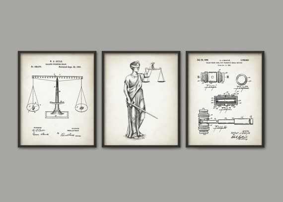 Attorney Office Decor Set Of 3 Prints The Lady Justice Law