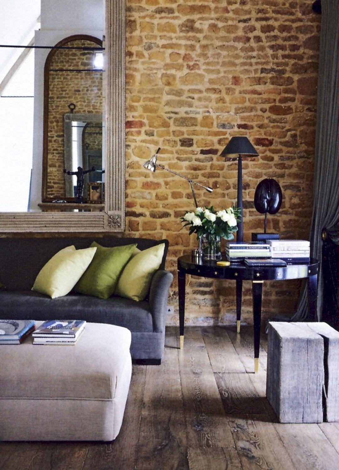 6 Cozy Brick Wall Living Room Decoration Ideas in 6  Brick