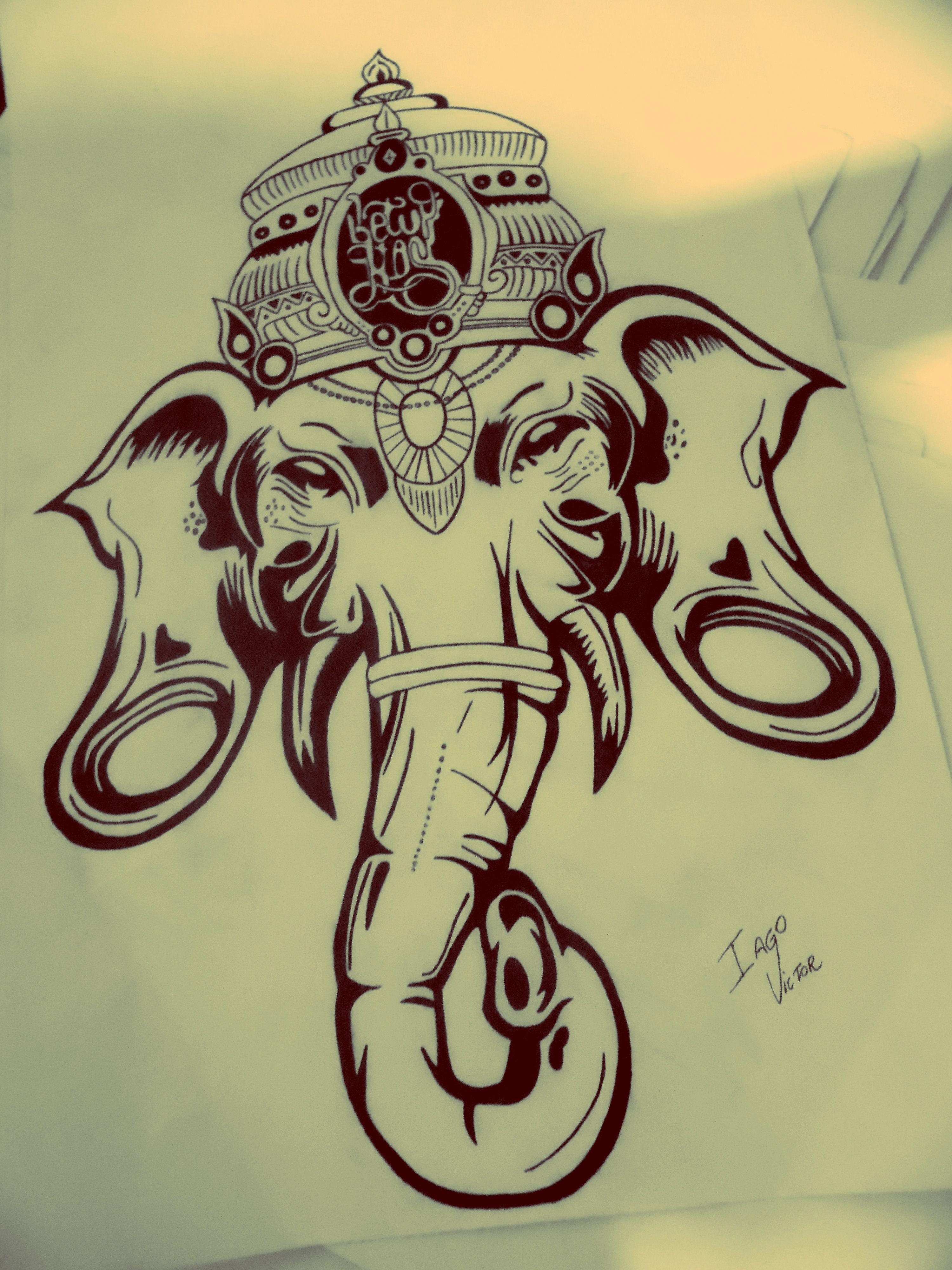 11 ganesha tattoo designs ideas and samples - Ganesha Drawing