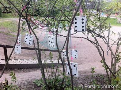 """Recognising number patterns outdoors - subitising practice ("""",)"""