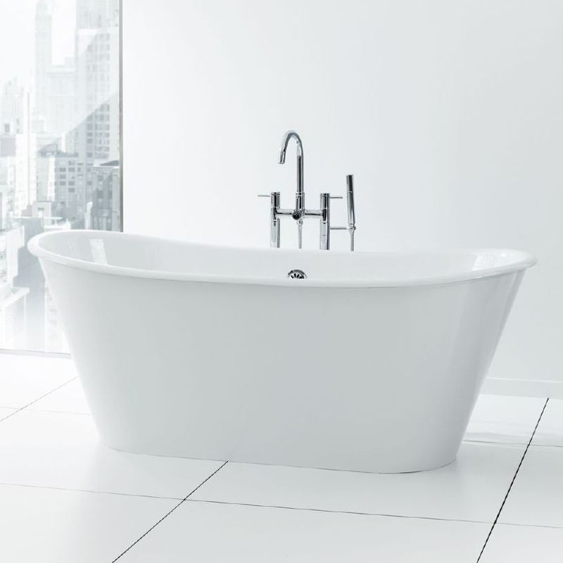 Cheviot Iris Freestanding Soaking Bathtub 68 X 28 White